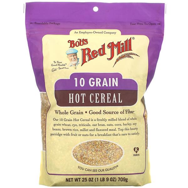 10 穀物熱麥片,全穀物,25 盎司(709 克)