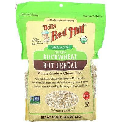 Купить Bob's Red Mill Organic Creamy Buckwheat Hot Cereal, Whole Grain, 18 oz (510 g)