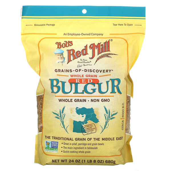 Red Bulgur, Whole Grain, 24 oz (680 g)