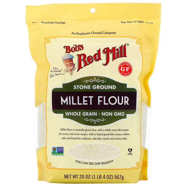 Bob's Red Mill, Harina de mijo, Integral, 567 g (20 oz)