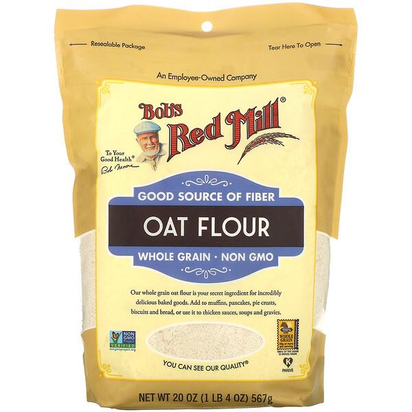 Oat Flour, Whole Grain, 20 oz (567 g)