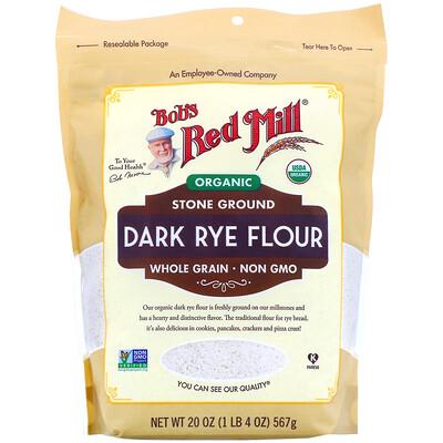 Купить Bob's Red Mill Органическая цельнозерновая обойная ржаная мука, 567г (20унций)