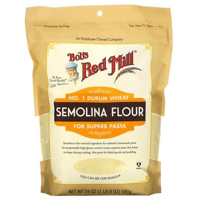 Купить Bob's Red Mill Semolina Flour, 24 oz (680 g)