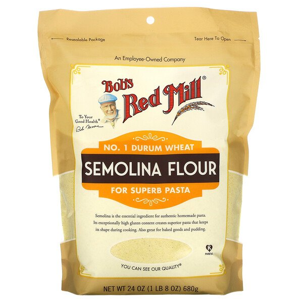 Bob's Red Mill, Semolina Flour, 24 oz (680 g)