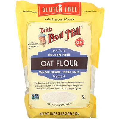 Bob's Red Mill Oat Flour, Whole Grain, Gluten Free, 18 oz (510 g)  - купить со скидкой