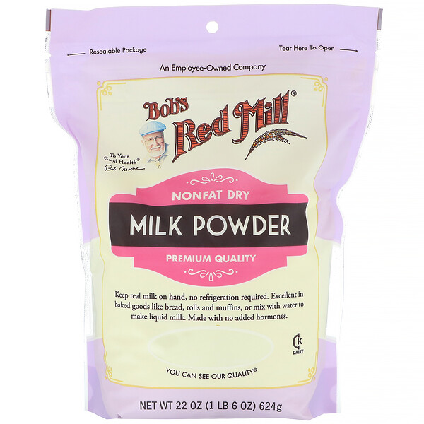 Bob's Red Mill, Milk Powder, Nonfat Dry, 22 oz (624 g)