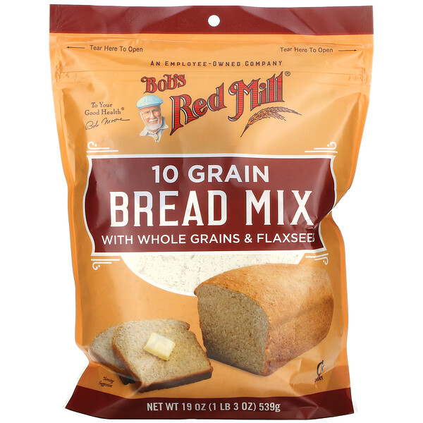Bob's Red Mill, 10 Grain, Bread Mix, 19 oz (539 g) (Discontinued Item)