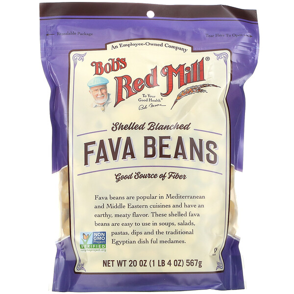 Fava Beans, Shelled Blanched,  20 oz (567 g)