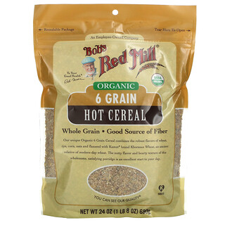 Bob's Red Mill, Organic 6 Grain Hot Cereal, 24 oz (680 g)