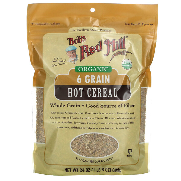 Organic 6 Grain Hot Cereal with Flaxseed, 24 oz (680 g)