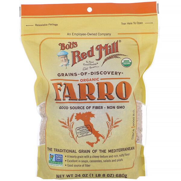 Bob's Red Mill, Organic Farro, 24 oz (680 g)
