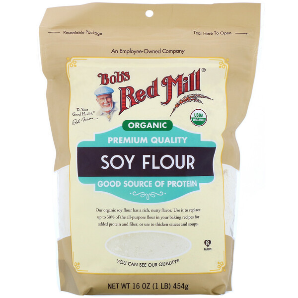 Bob's Red Mill, Organic Soy Flour, 16 oz (454 g)