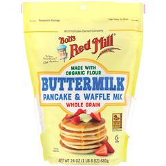 Bob's Red Mill, 酪乳煎餅粉和華夫餅粉,全穀物,24 盎司(680 克)