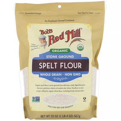 Купить Bob's Red Mill Органическая спельтовая мука, цельное зерно, 567г (20унций)