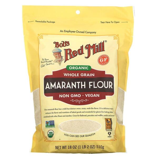 Organic Amaranth Flour, Whole Grain, 18 oz (510 g)
