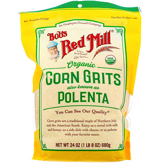 Bob's Red Mill, Organic Corn Grits, Polenta, 24 oz  (680 g)