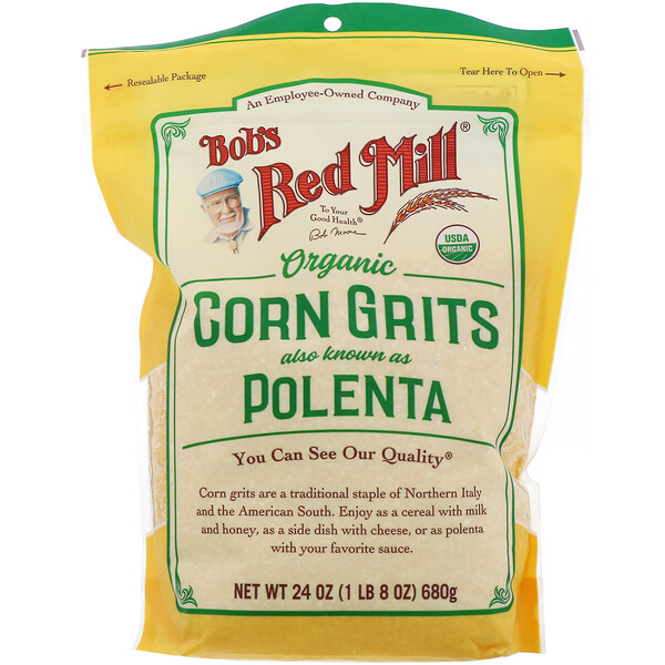 Bob's Red Mill, Organic Corn Grits, Polenta, 24 oz  (680 g)