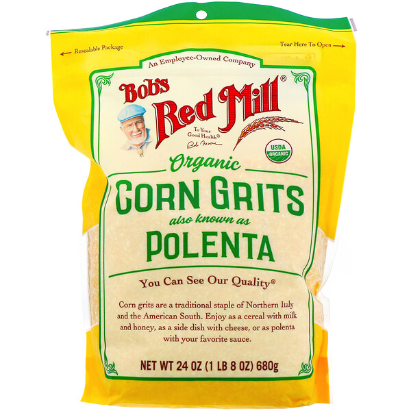 Organic Corn Grits, Polenta, 24 oz  (680 g)