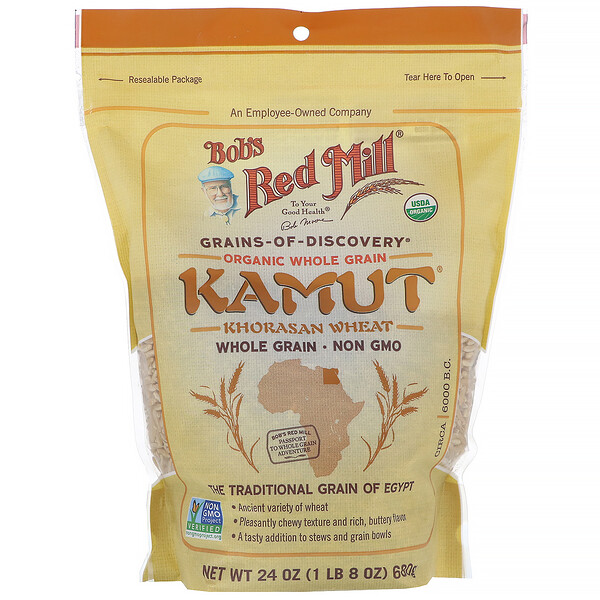 Bob's Red Mill, Organic Kamut, Whole Grain, 24 oz (680 g)