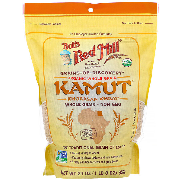 Bob's Red Mill, Kamut orgánico, Cereal integral, 680 g (24 oz)