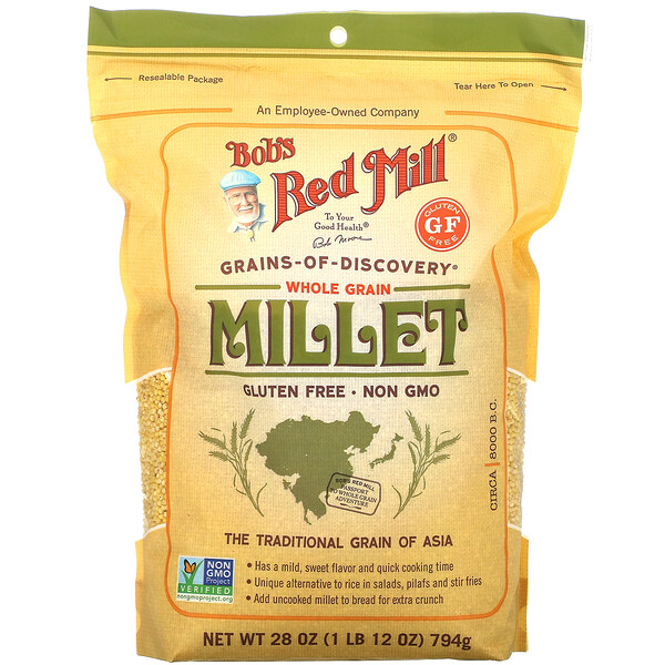 Bob's Red Mill, Whole Grain Millet, 28 oz (794 g) (Discontinued Item)