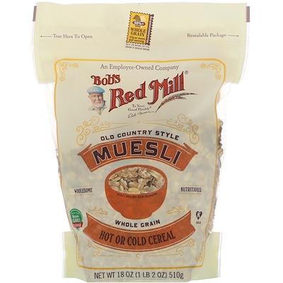 Bob's Red Mill Мюсли, цельнозерновые, традиционные, 18 унций (510 г)