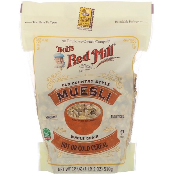 Bob's Red Mill, Muesli, Old County Style, Whole Grain, 18 oz (510 g)