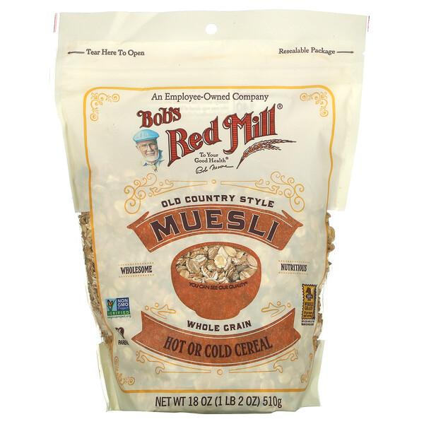 Muesli, Old County Style, Whole Grain, 18 oz (510 g)