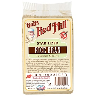 Bob's Red Mill, Salvado de arroz estabilizado, 510 gr