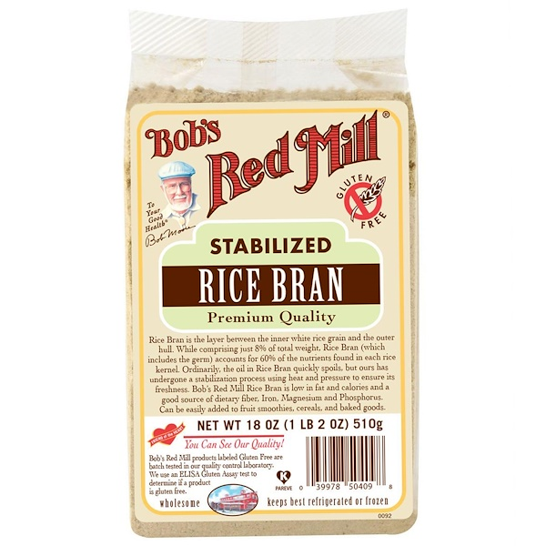 Bob's Red Mill, Stabilized Rice Bran, 18 oz (510 g) (Discontinued Item)