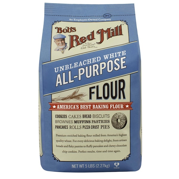 Bob's Red Mill, Unbleached All-Purpose White Flour, 5 lbs (2.27 kg) (Discontinued Item)