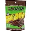 Barnana, チューイーバナナバイト、オーガニックダークチョコレート、3.5 oz (100 g)
