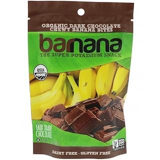 Barnana, Chewy Banana Bites, Organic Dark Chocolate, 3.5 oz (100 g)