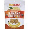 Barnana, حلوى الموز المقرمشة العضوية، فطيرة الزنجبيل، 3.5 أوقية (100 غرام)