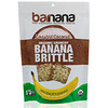 Barnana, Plátano crocante crujiente orgánico, coco tostado, 3.5 oz (100 g)