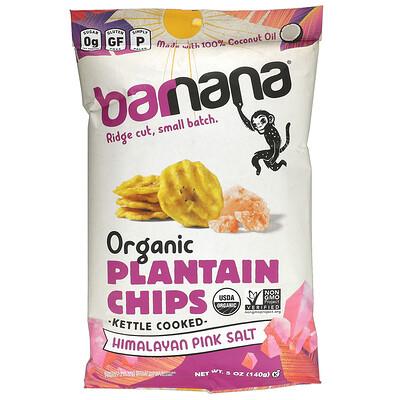 Barnana Organic Plantain Chips, Himalayan Pink Salt, 5 oz (140 g)