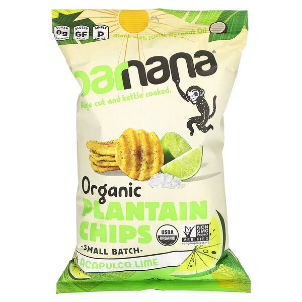 Organic Plantain Chips, Acapulco Lime, 5 oz (140 g)