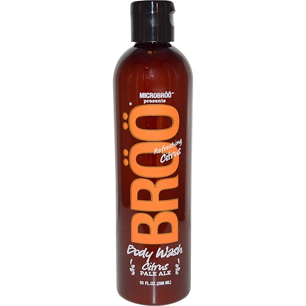BRöö, MicroBroo Presents, Body Wash, Pale Ale, Refreshing Citrus, 10 fl oz (296 ml) (Discontinued Item)