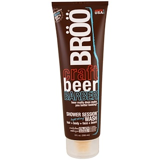 BRöö, Crafted Beer Barber, Shower Session Hydrating Wash, Fresh Scent, 9 fl oz (266 ml)