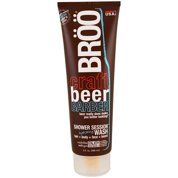 BRöö, Crafted Beer Barber, Shower Session Hydrating Wash, Fresh Scent, 9 fl oz (266 ml) (Discontinued Item)