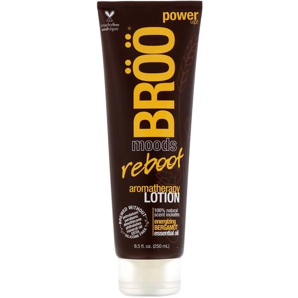 BRöö, Moods, Reboot Aromatherapy Lotion, Energizing Bergamot, 8.5 fl oz (250 ml)