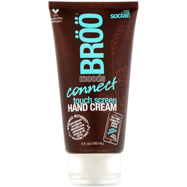 BRöö, Moods, Connect Touch Screen Hand Cream, Jasmine and Lime, 5 fl oz (150 ml) (Discontinued Item)