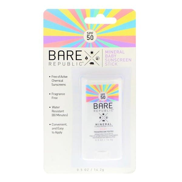 Bare Republic, Bâton de protection solaire minérale pour bébé, SPF 50, 14,2 g (0,5 oz) (Discontinued Item)