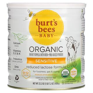 Burt's Bees, Baby, Organic Infant Formula With Iron, Sensitive, 0-12 Months, 23.2 oz (658 g)