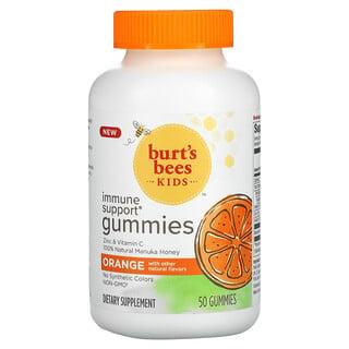 Burt's Bees, Kids, Immune Support Gummies, Orange, 50 Gummies