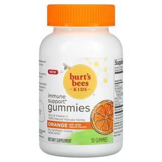Burt's Bees, Kids, Immune Support Gummies, Orange , 30 Gummies