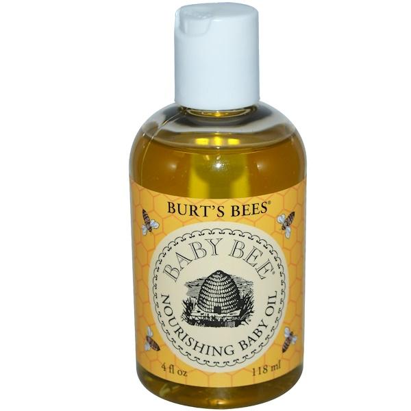 Burt's Bees, Baby Bee Nourishing Baby Oil, 4 fl oz (118 ml) (Discontinued Item)
