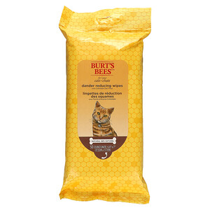 Burt's Bees, Dander Reducing Wipes for Cats with Colloidal Oat Flour, 50 Count