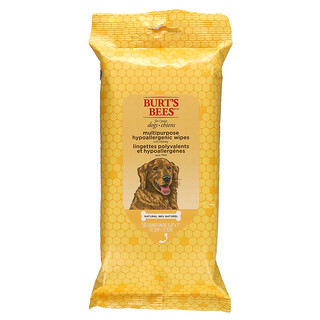 Burt's Bees, Multipurpose Hypoallergenic Wipes for Dogs with Honey, 50 Count