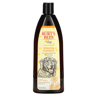 Burt's Bees, Care Plus+, Relieving Shampoo for Dogs with Chamomile & Rosemary, 16 fl oz (473 ml)